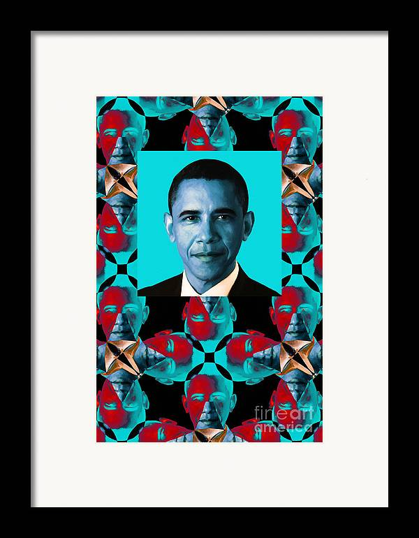 Politic Framed Print featuring the photograph Obama Abstract Window 20130202verticalm180 by Wingsdomain Art and Photography