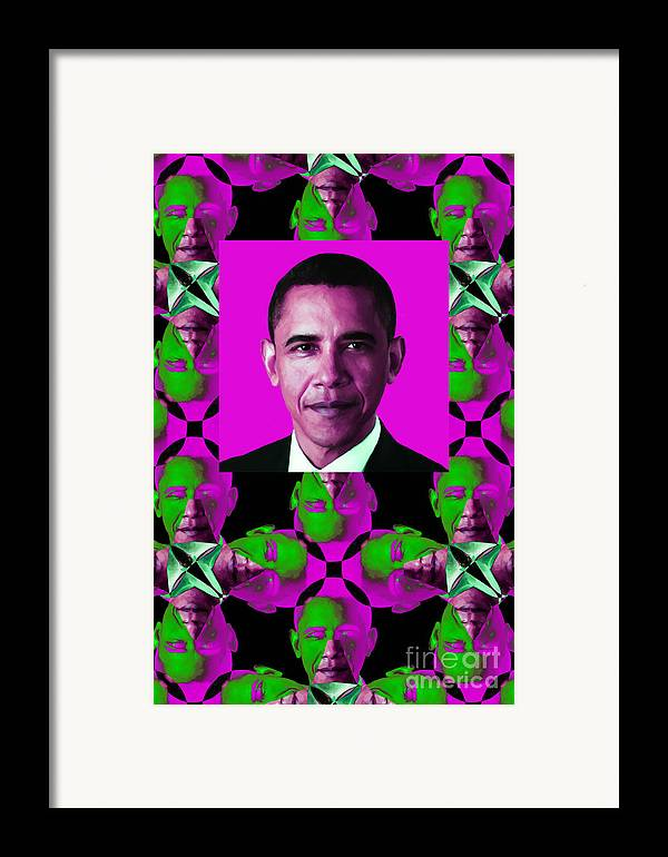 Politic Framed Print featuring the photograph Obama Abstract Window 20130202verticalm60 by Wingsdomain Art and Photography