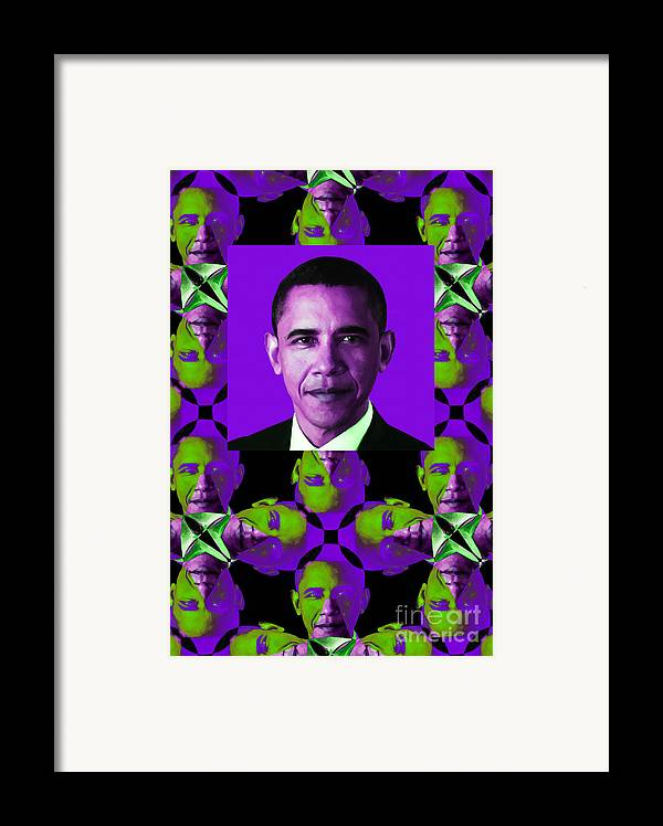 Politic Framed Print featuring the photograph Obama Abstract Window 20130202verticalm88 by Wingsdomain Art and Photography