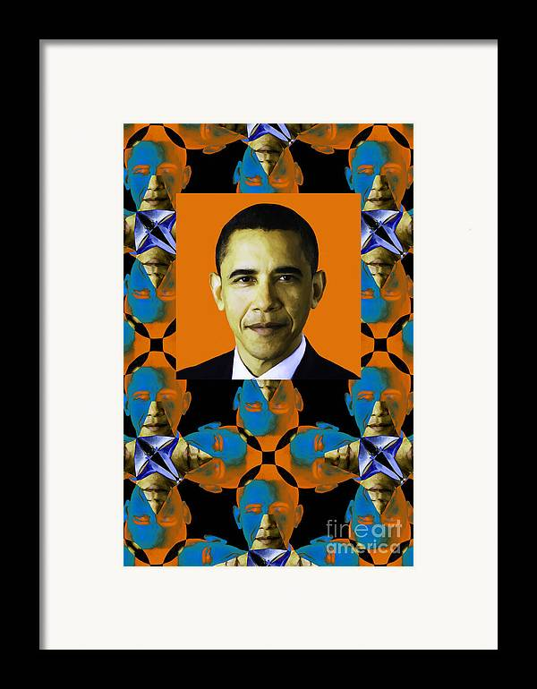 Politic Framed Print featuring the photograph Obama Abstract Window 20130202verticalp28 by Wingsdomain Art and Photography