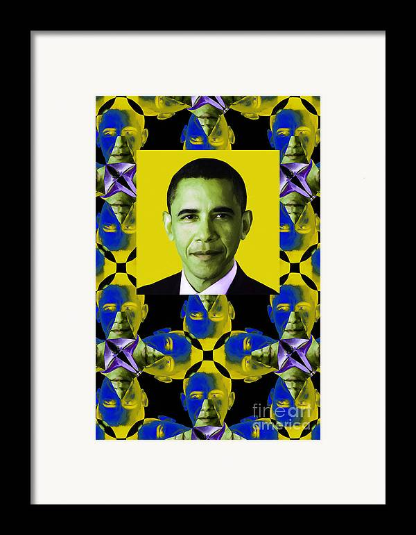 Politic Framed Print featuring the photograph Obama Abstract Window 20130202verticalp55 by Wingsdomain Art and Photography