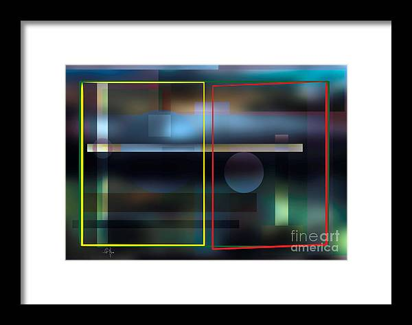 Observation Framed Print featuring the digital art Observation by Leo Symon
