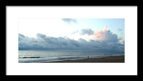 North Carolina Framed Print featuring the photograph Obx Fisherman by Jack Thomas