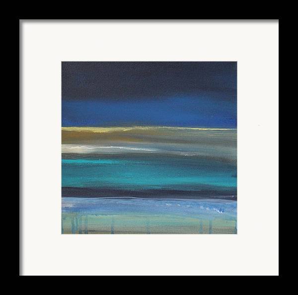Abstract Painting Framed Print featuring the painting Ocean Blue 2 by Linda Woods