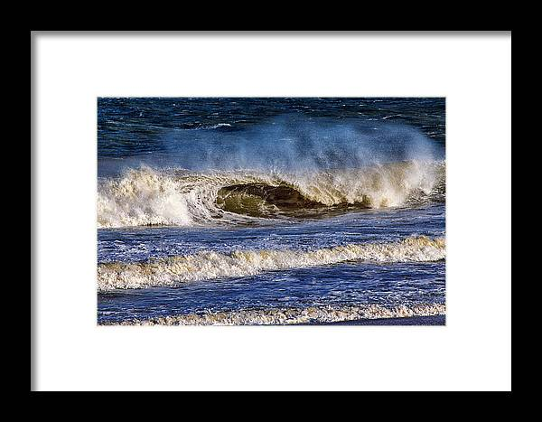Ocean Waves Framed Print featuring the photograph Ocean City Surf's Up by Bill Swartwout Fine Art Photography