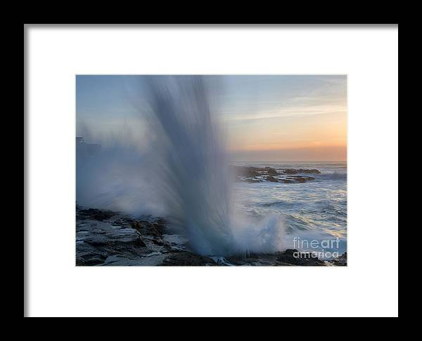 Splash Framed Print featuring the photograph Ocean Explosion by Mike Dawson
