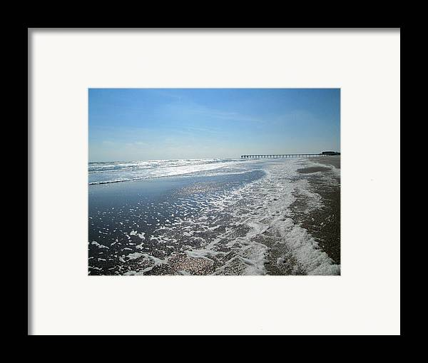 Ocean Framed Print featuring the photograph Ocean Foam by Silvie Kendall