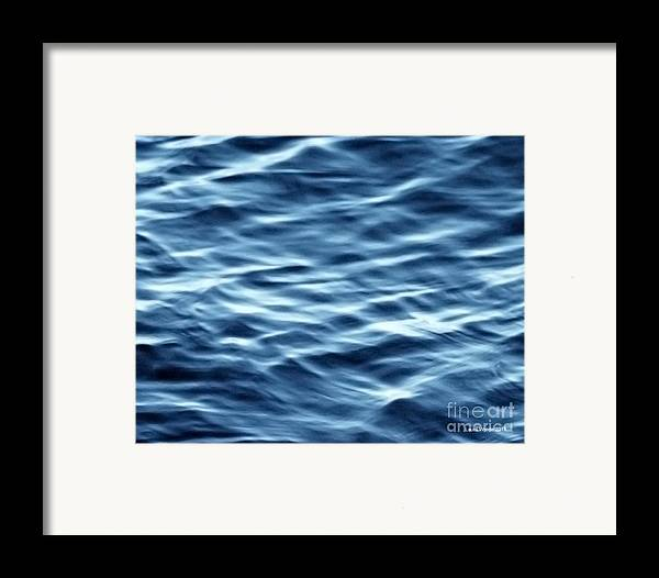 Ocean Art Framed Print featuring the photograph Ocean Ripples by Artist and Photographer Laura Wrede