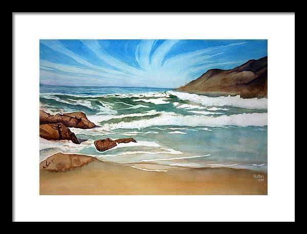 Rick Huotari Framed Print featuring the painting Ocean Side by Rick Huotari