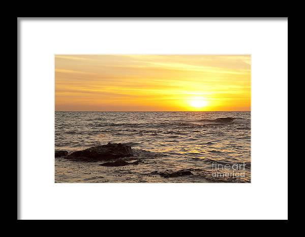 Australia Framed Print featuring the photograph Ocean Sunset by Tim Hester