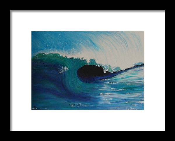 Framed Print featuring the painting Ocean Wave by Maia Oliver