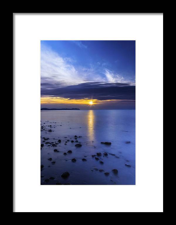Sunset Framed Print featuring the photograph Oceanside Sunset by Ian Mitchell