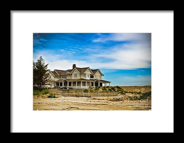 Beach House Framed Print featuring the photograph Oceanview by Colleen Kammerer