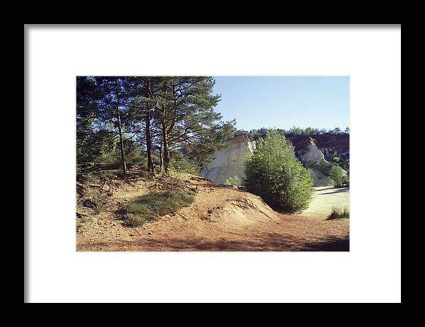 Blue Framed Print featuring the photograph Ochre by Patrick Kessler