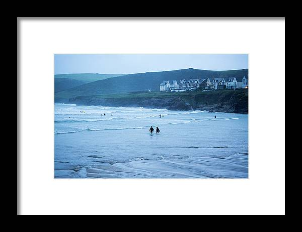 Built Structure Framed Print featuring the photograph October Evening Surf by Landscapes, Seascapes, Jewellery & Action Photographer