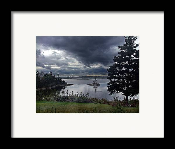 October Framed Print featuring the photograph October Sky by George Cousins