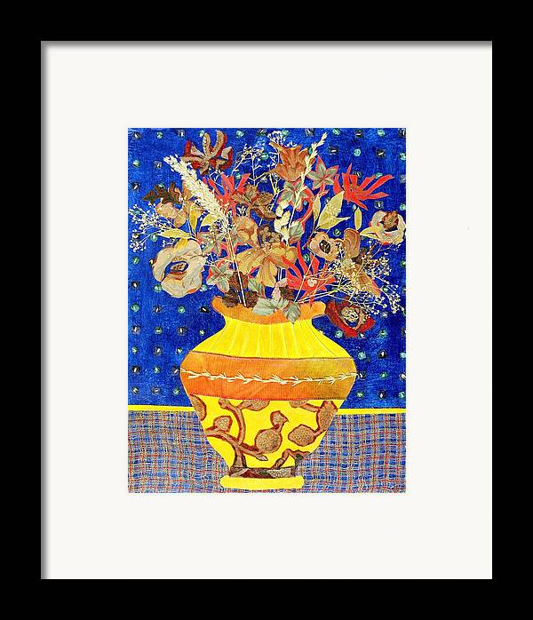 Flowers In A Vase Framed Print featuring the mixed media Ode To A Grecian Urn by Diane Fine