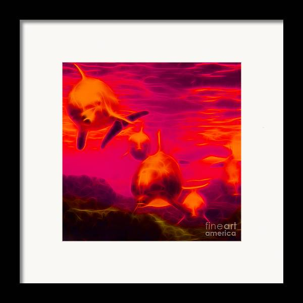 Animal Framed Print featuring the photograph Odyssey V2 - Square by Wingsdomain Art and Photography