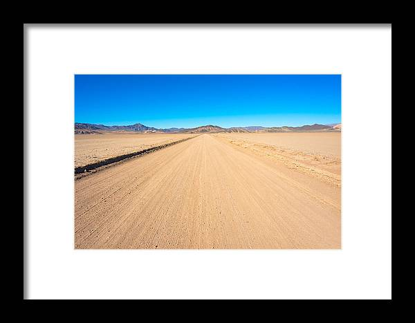 Landscape Framed Print featuring the photograph Off-road To Death Valley National Park by Alyaksandr Stzhalkouski