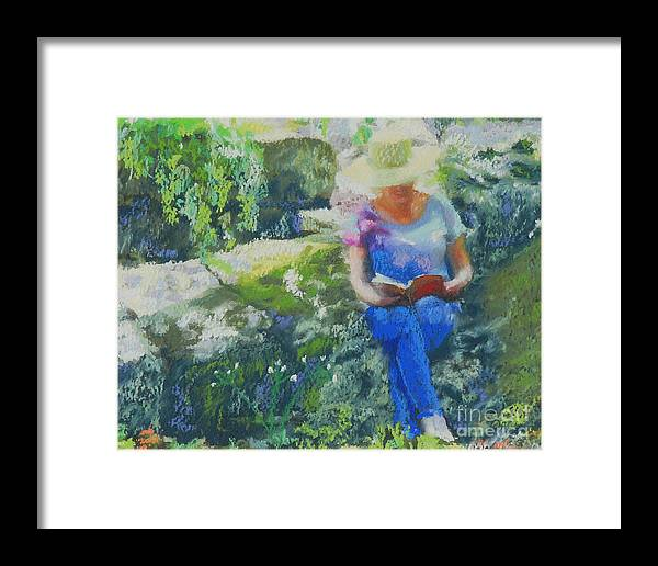 Portrait Framed Print featuring the painting Off The Rugged Trail by Patricia Collins-Perkey