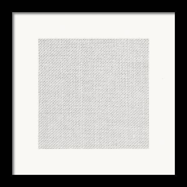 Art Framed Print featuring the photograph Off White Textile by Tom Gowanlock