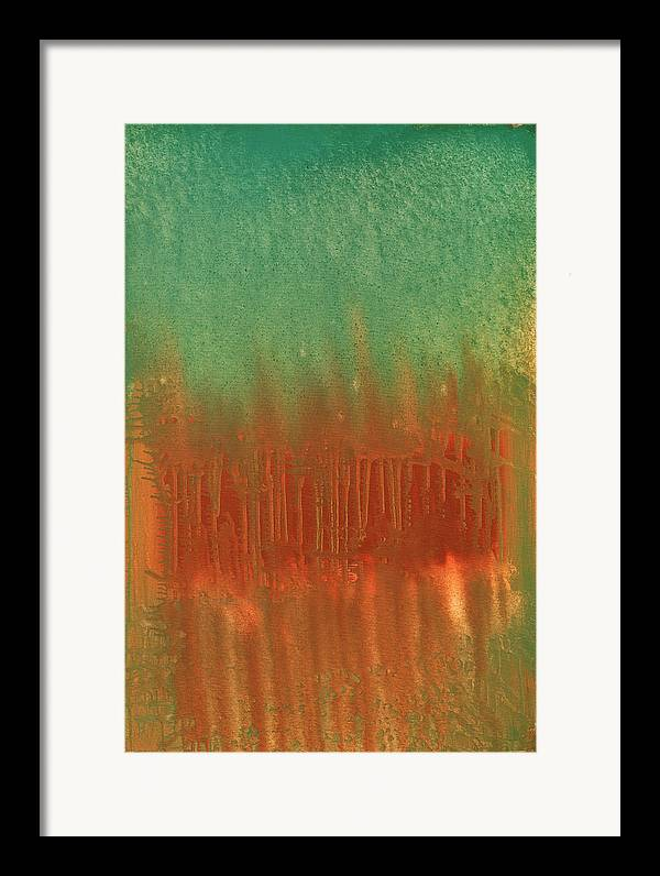Orange Framed Print featuring the painting Offering by Jigme Namgyel