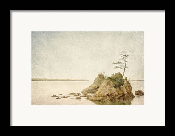 Oregon Framed Print featuring the photograph Offshore Rocks Oregon Coast by Carol Leigh