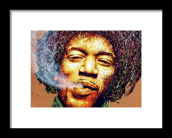 Jimi Hendrix Framed Print featuring the photograph Oh Jimi Art Wall Venice Beach by Purple Moon