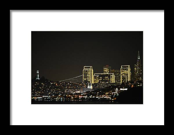Framed Print featuring the photograph Oh San Francisco by Beth Sanders