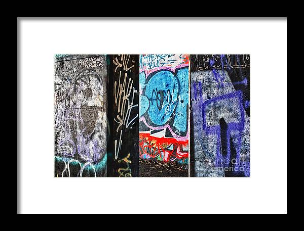 Oh Yes Framed Print featuring the photograph Oh Yes - Graffiti by Terry Rowe
