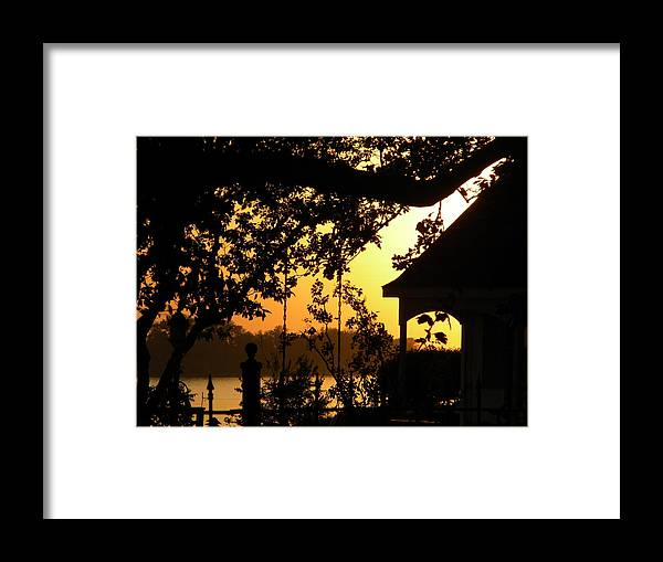Sunset Framed Print featuring the photograph Ohio River Sunset by Helen ONeal