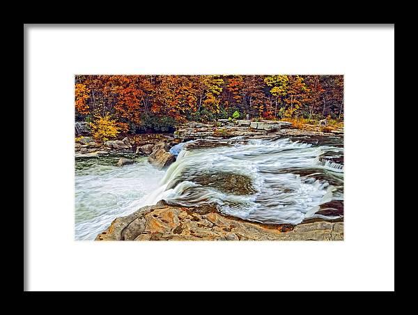 Pennsylvania Framed Print featuring the photograph Ohiopyle Falls 2 by Steve Harrington