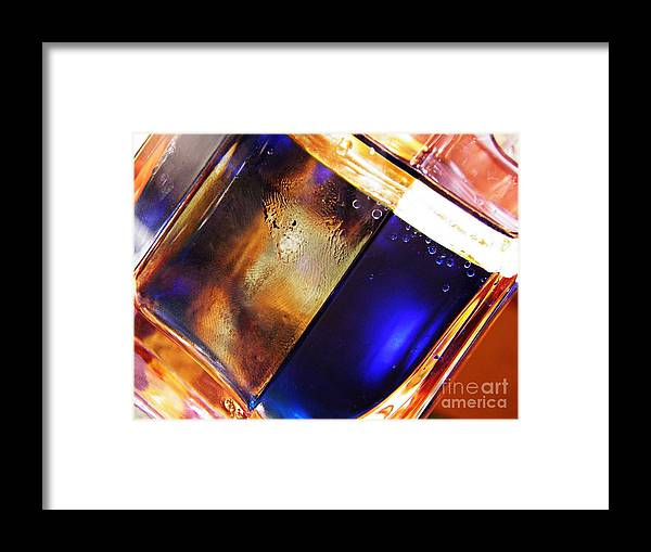 Abstract Framed Print featuring the photograph Oil And Water 31 by Sarah Loft