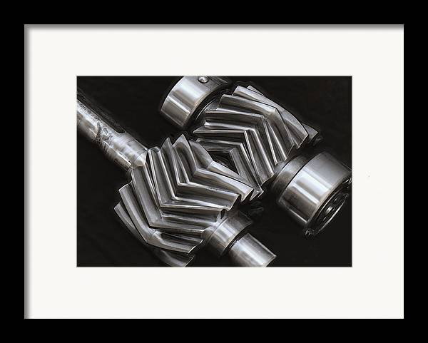 Gears Framed Print featuring the photograph Oil Pump Gears by Daniel Hagerman