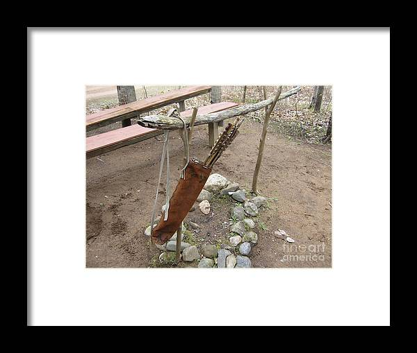 Ojibwe Framed Print featuring the photograph Ojibwe Arrows by Terry Hunt