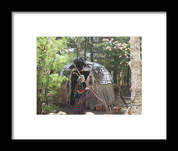 Ojibwe Framed Print featuring the photograph Ojibwe Fish Basket by Terry Hunt