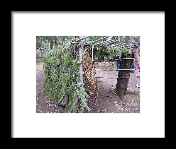 Ojibwe Framed Print featuring the photograph Ojibwe Snowshoes by Terry Hunt