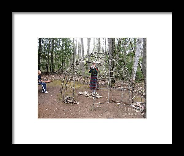 Ojibwe Framed Print featuring the photograph Ojibwe Wigwam Part 1 by Terry Hunt