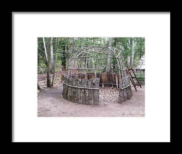 Ojibwe Framed Print featuring the photograph Ojibwe Wigwam Part 2 by Terry Hunt