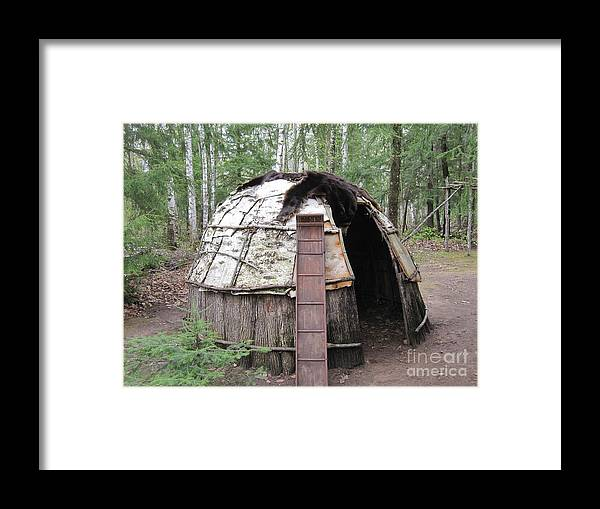 Ojibwe Framed Print featuring the photograph Ojibwe Wigwam Part 3 by Terry Hunt