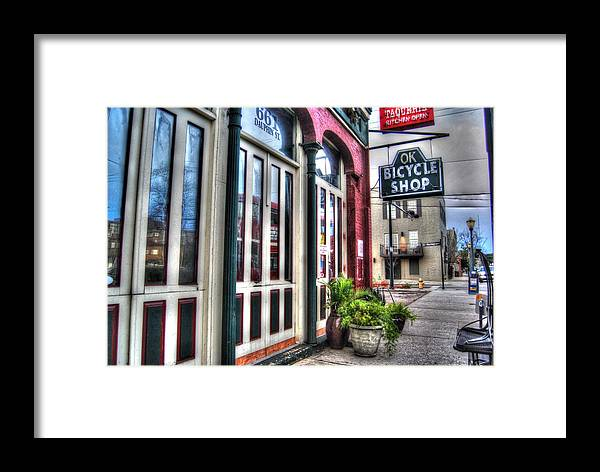 Alabama Framed Print featuring the digital art Ok Bike From Left by Michael Thomas