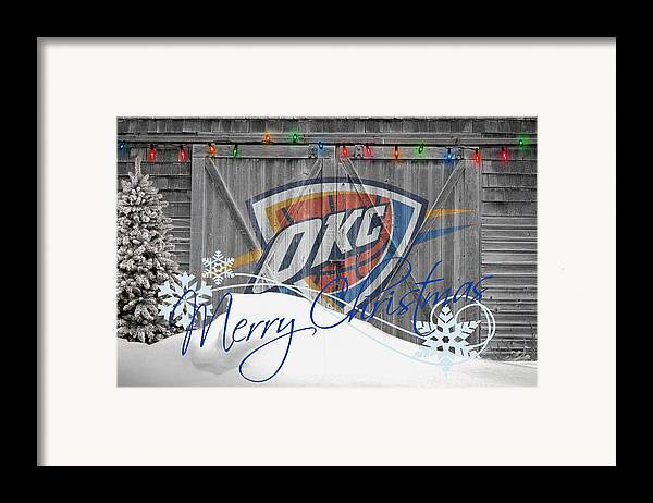 Thunder Framed Print featuring the photograph Oklahoma City Thunder by Joe Hamilton