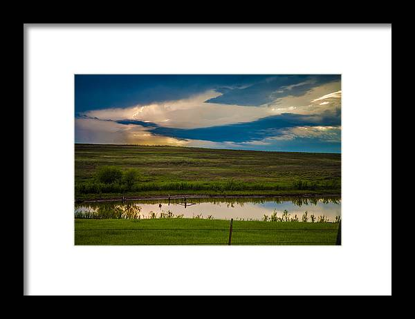 Landscape Framed Print featuring the photograph Oklahoma Landscape by Toni Hopper