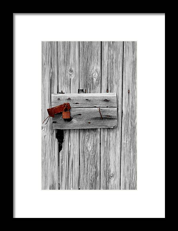 Abstract Framed Print featuring the photograph Old And Rusty by Jeffrey J Nagy