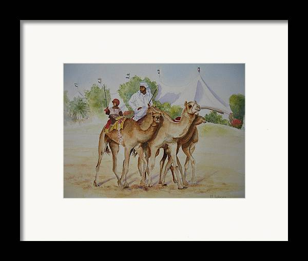 Figure Framed Print featuring the painting Old And Young by Maruska Lebrun