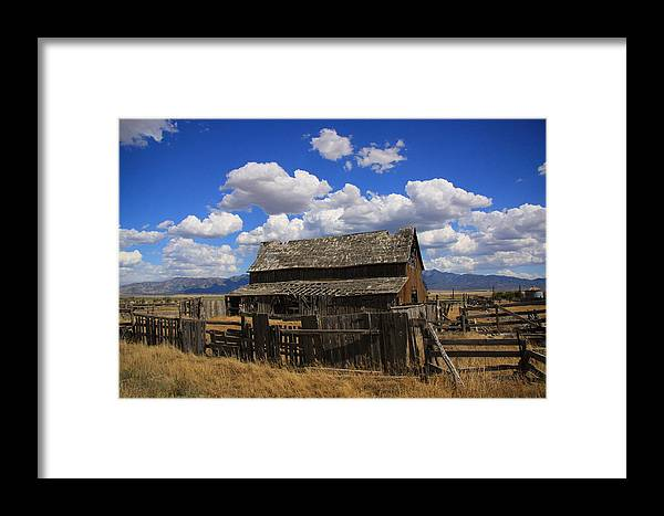 Old Framed Print featuring the photograph Old Barn Rush Valley by Gene Praag