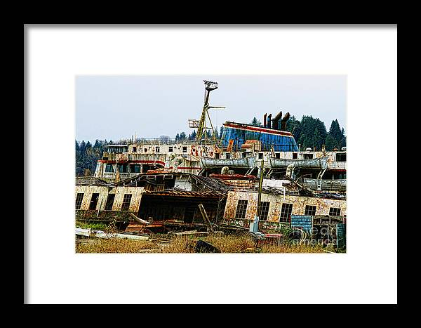 Boats Framed Print featuring the photograph Old B.c. Rusted Ferry by Randy Harris