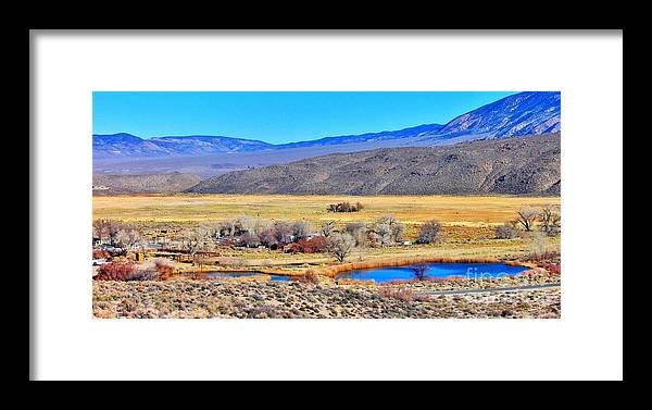White Mountain Framed Print featuring the photograph Old Benton View by Marilyn Diaz