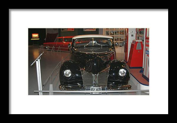 Hardtop Framed Print featuring the photograph Old Black And White Hardtop by Rob Luzier