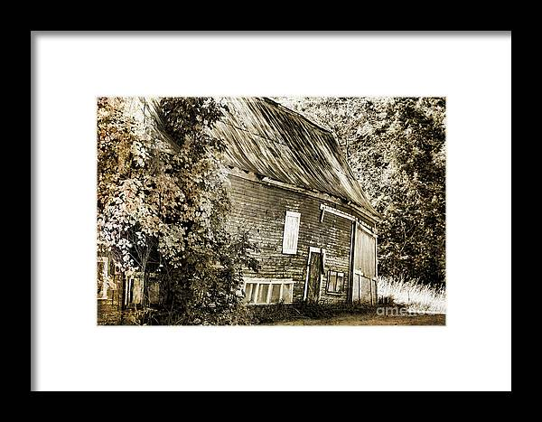 Barn Framed Print featuring the photograph Old But Not Forgotten by Deborah Benoit